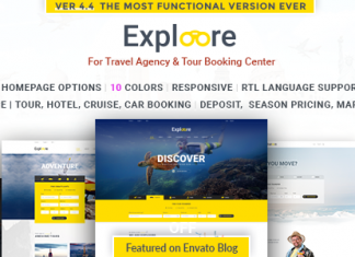 EXPLORE Travel– Tour Booking Travel WordPress Theme