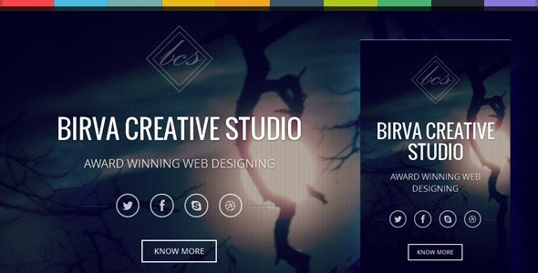 Birva -Bootstrap Parallax One Page Template
