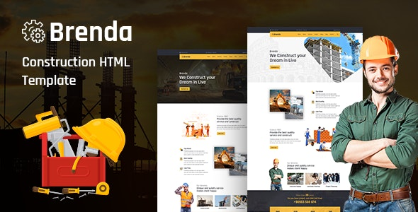 Brenda– Construction HTML Template