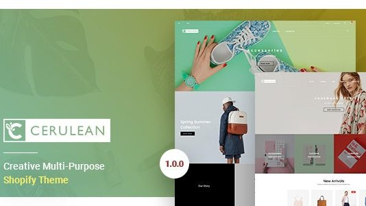 Cerulean is a modern and clean and professional Theme.