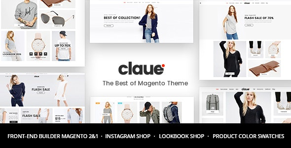 Claue and minimal and magento Theme