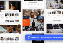 Coursector is a responsive WordPress theme