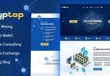 CrypTop is a clean and functional WordPress theme