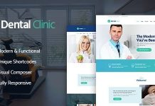Dental Clinic and Medicine and Healthcare and modern & responsive WordPress theme