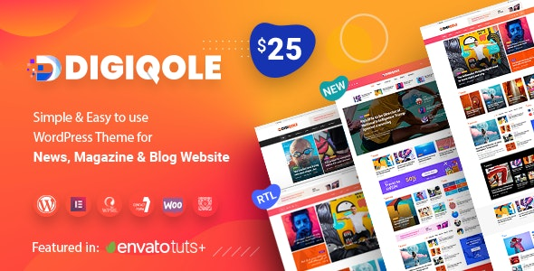 Digiqole Easy to Use WordPress