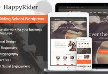 Happy Rider and Horse School and Equestrian Center and WordPress Theme