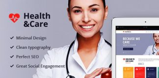 Health and Care and responsive theme.