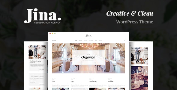 Jina is a Powerful and Modern and Creative WordPress theme