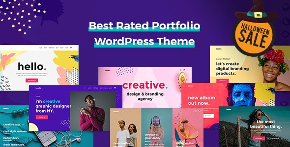 Leedo- Modern and Colorful & Creative Portfolio WordPress