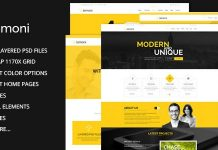 Lemoni is a Pixel Perfect and Multipurpose PSD template