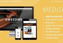Mediso Corporate / One-Page / Blogging WP Theme.