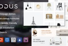 Modus Modern Furniture WooCommerce Theme.