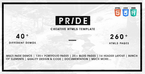 Pride is a Powerful and Responsive and Multi-Purpose theme