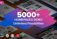 homepages demo multiple theme