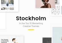 Stockholm is a gorgeous and clean multi-purpose theme