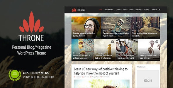 Throne is a responsive WordPress theme