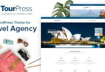 TourPress - Travel Booking WordPress Theme.