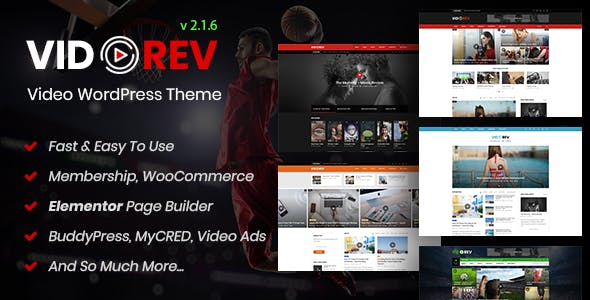 VidoRev Responsive WordPress
