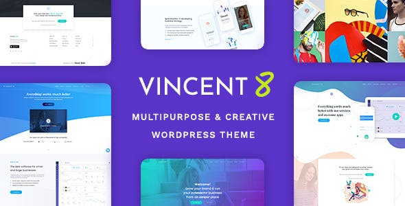 Vincent Eight is Responsive and WordPress theme