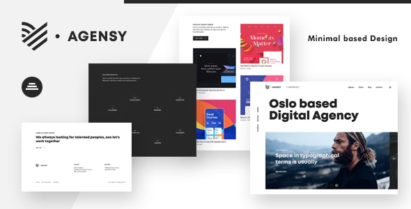 Agensy is a smoothly animated portfolio layout for agencies and freelancers