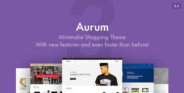 Aurum is a minimal WooCommerce theme.
