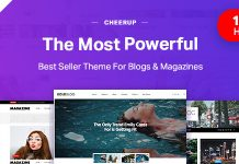 CheerUp is a WordPress Blog theme