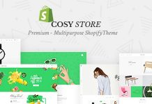 Cosy multipurpose Shopify Theme