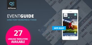 Event Guide is the Ultimate Directory Listing Theme