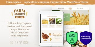 Farm Agrico is an agricultural Organic Food WordPress Theme