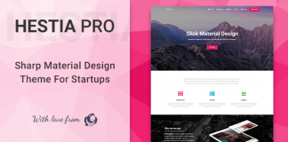 Hestia Pro is a material design theme