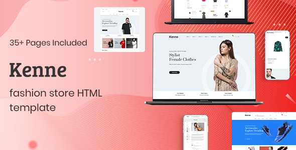 Kenne is a stunning Html template