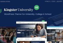 Kingster Education WordPress Theme