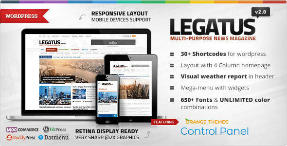 Legatus is a clean and responsive and retina-ready WordPress theme