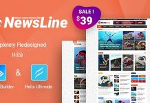 Newsline is a Responsive clean Magazine Joomla Template