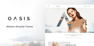 Oasis is an extremely powerful and flexible Shopify theme