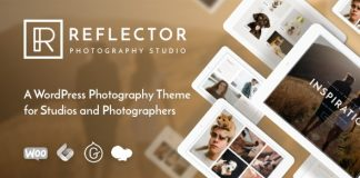Reflector is a gorgeous and creative theme