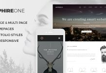 Sapphire One is a modern and multi-page template