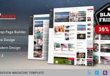 Sj ExpNews Clean Drag & Drop News Portal Joomla Template.
