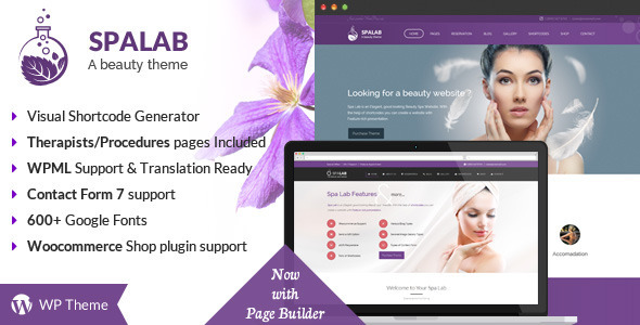 Spa Lab is a handcrafted Beauty Salon WordPress Theme