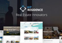 WP Residence is a Premium Real Estate theme.