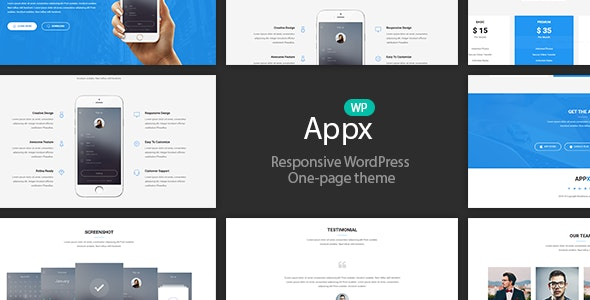 Appx is a perfect responsive Mobile APP WordPress theme