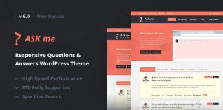 Ask me is the questions and answers WordPress theme