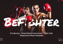 BeFighter – responsive Adobe Muse template