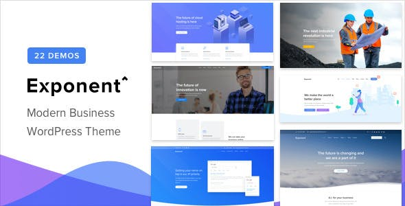 Exponent is a modern business theme