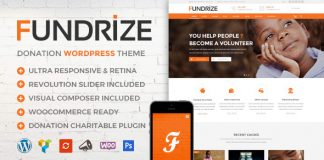 Fundrize is Ultra Responsive & Retina Ready clean