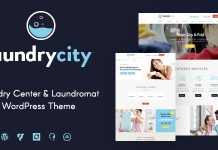 Laundry City is a responsive modern & stylish WordPress Theme.