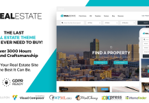 WP Pro Real Estate 7 is a beautifully designed professional WordPress theme