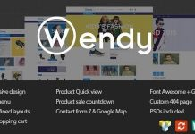 Wendy – Multi Store WooCommerce Theme