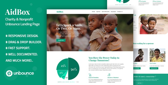 Aidbox is a Creative Responsive Unbounce Template