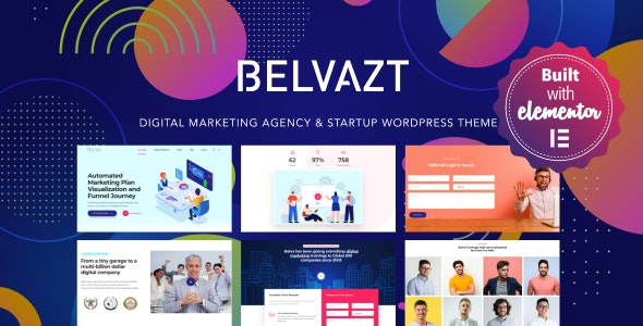 Belvazt is a modern digital consulting agency business theme